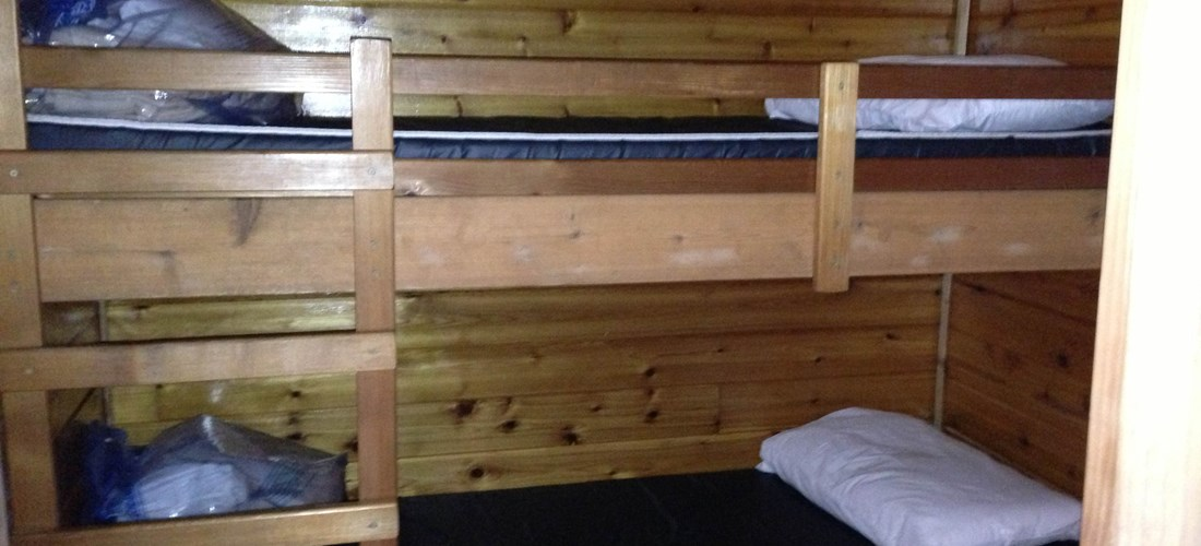 Twin bunk beds for the kids to enjoy!!