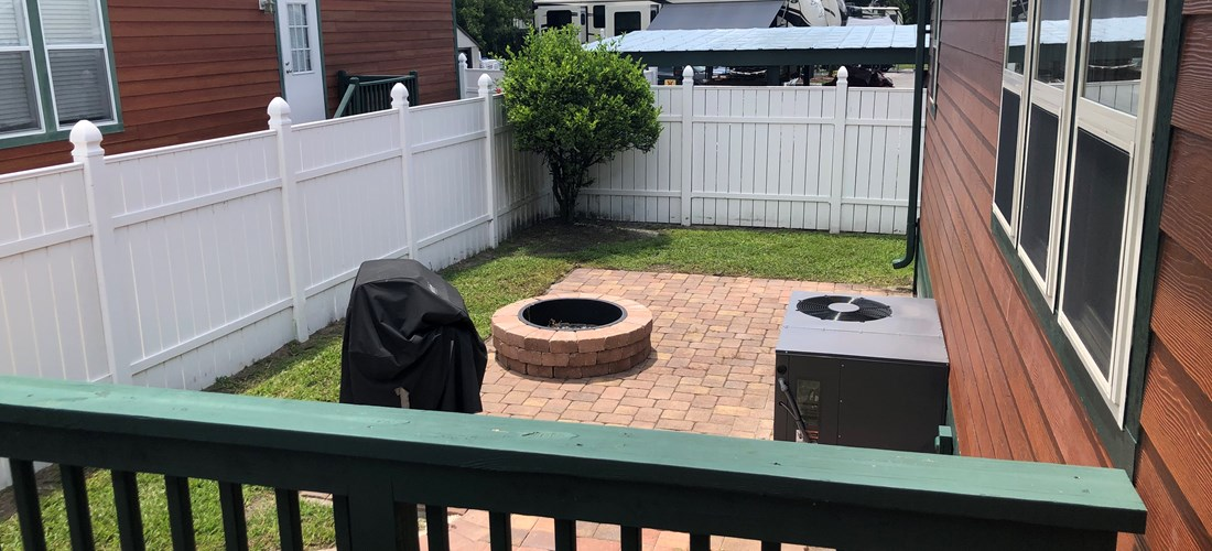 Gas grill and Fire pit Patio
