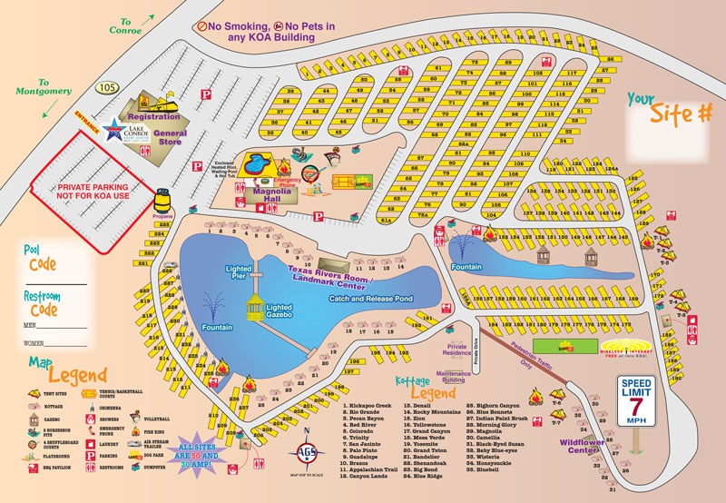 Bon Campground Site Map