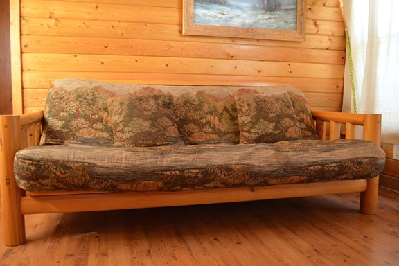 Comfortable Couch in Deluxe Cabin
