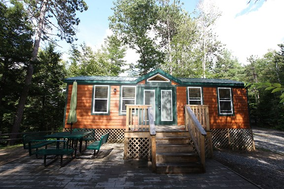 Try our Deluxe Cabins