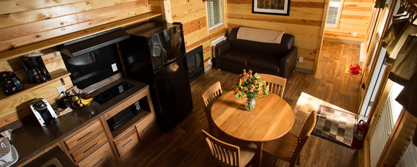 """Fall"" into a Deluxe Cabin at the Lake Placid KOA!"