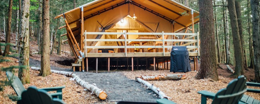 "Try ""Glamping"" in one of our newest accommodations!"