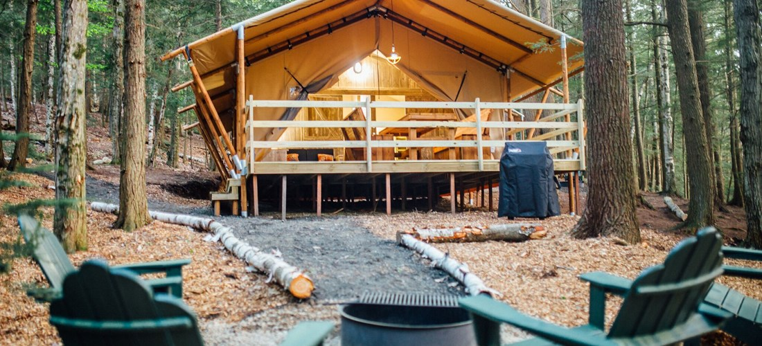 Enjoy the Ausable River in your front yard Glamping