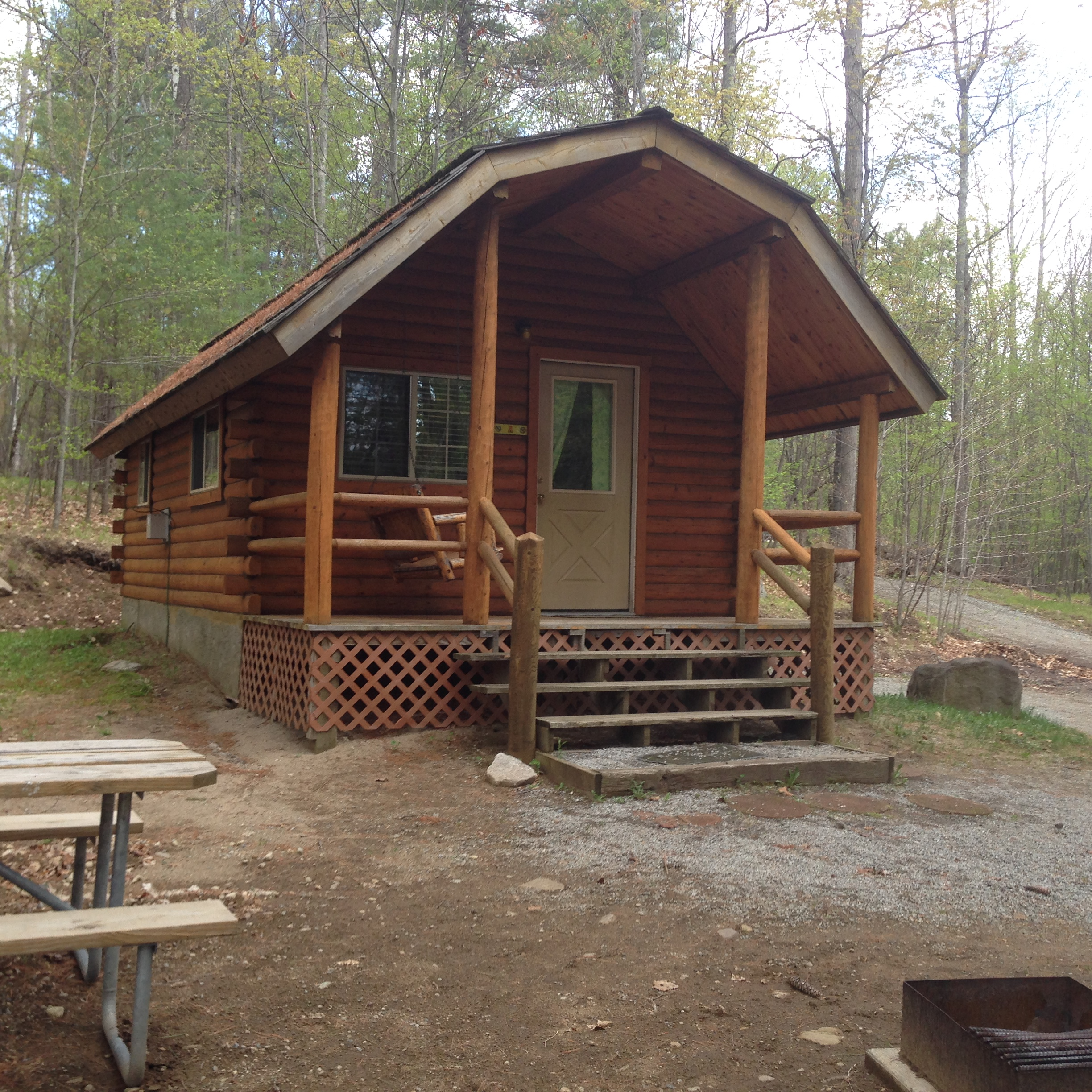 koa deluxe stay new campgrounds cabin york whiteface wilmington camping cozy and a mtn warm lake placid cabins in photos