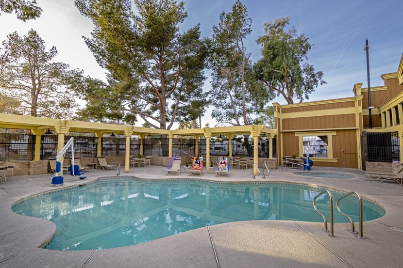 Senior RV Park Community at Pool