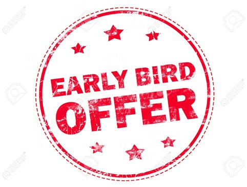 Early Bird Discount Photo