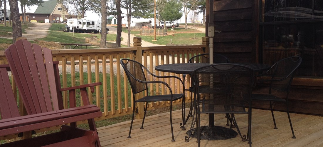 Scenic View Couples Cabin Deck