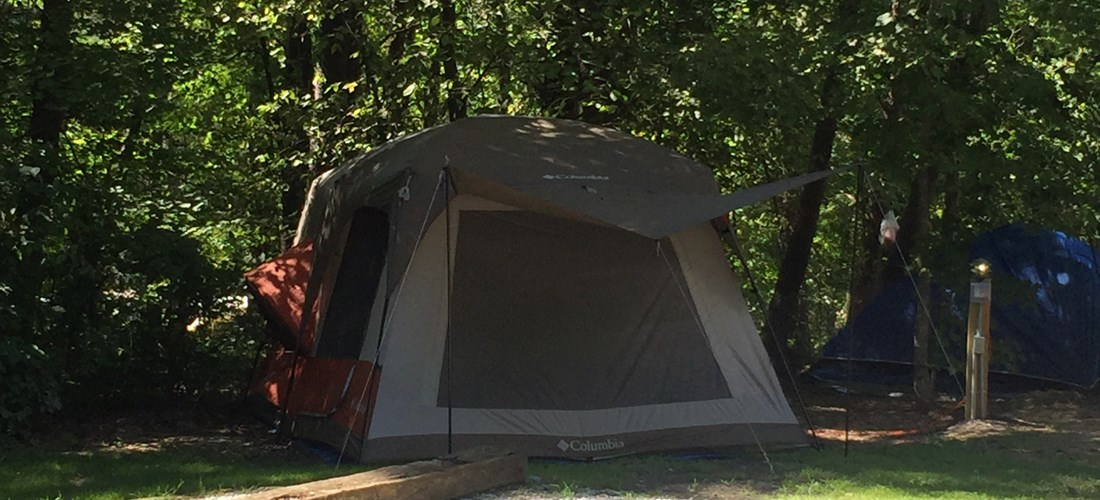 Electric Tent Site - By Baths
