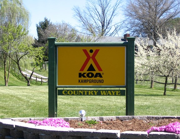 Notice how your heart speeds up when you see this sign? It means you are entering one of the most beautiful RV parks in America.  Once named Country Waye RV Resort, we are now proud to join the KOA family of campgrounds as the Luray KOA.  If you ever find yourself wandering aimlessly during your vacation, head for this sign and you'll be cheered up!  Of course, the KOA way!