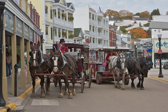 Mackinac Island  -- The number one tourist destination in Michigan.