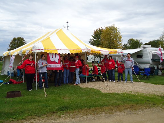 Tailgating before the Badger football game