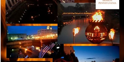 September 21st - WaterFire Sharon, PA