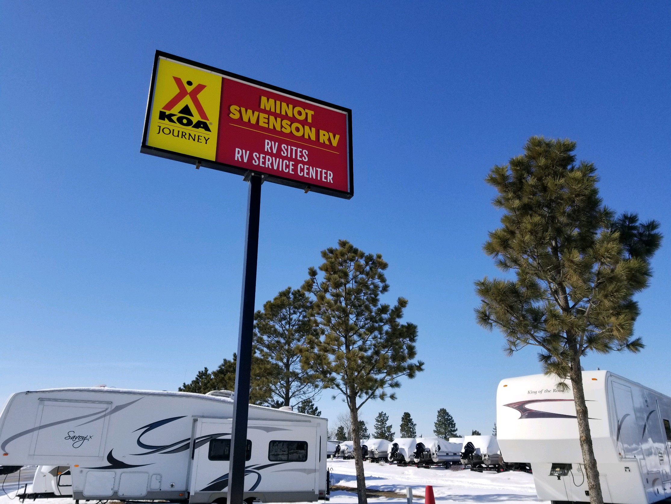 Minot North Dakota Rv Camping Sites Minot Swenson Rv Koa