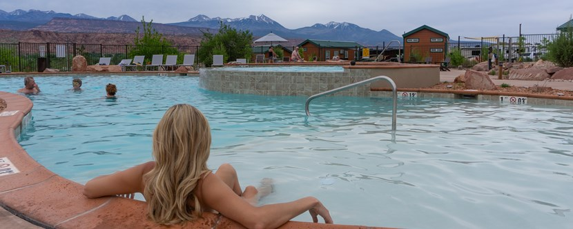 Relax in Moab's largest pool