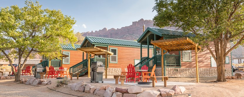 Deluxe Cabins make your trip effortless, includes linens, bathroom, and some pet friendly options