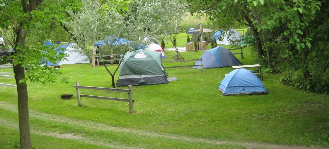 No hook-up tent sites