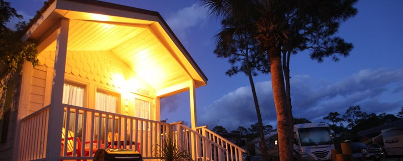 Deluxe Cabins provide all the conveniences of home.