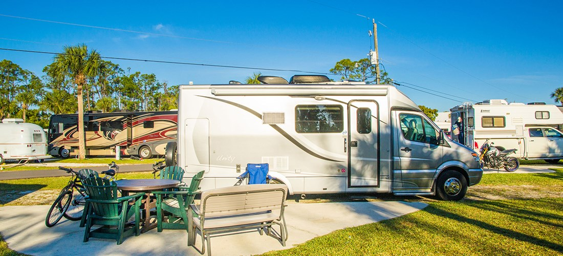 RV KOA Patio site
