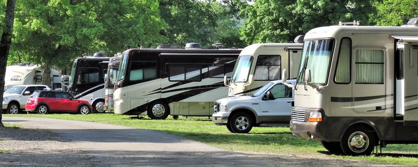 No matter what size RV, we have a site just for you