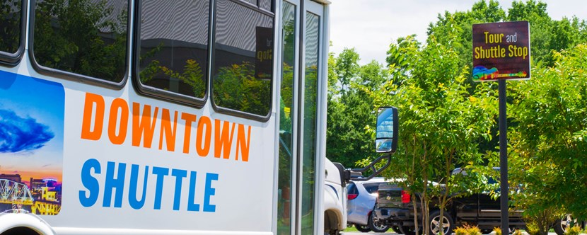 Shuttle service available to downtown Nashville