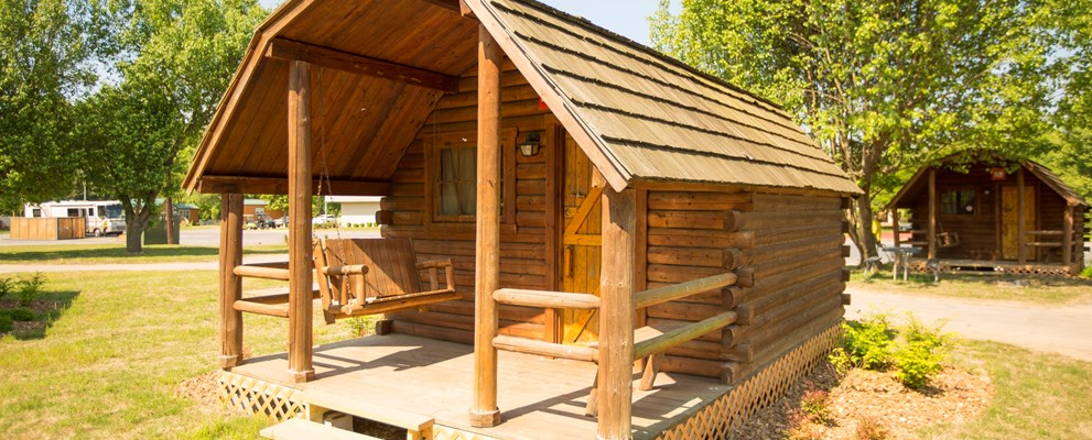Our rustic cabins aren't so rustic.