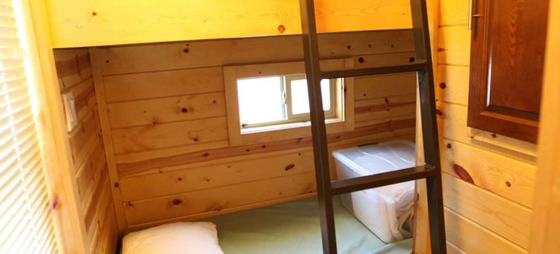 These bunk beds are perfect for smaller children.
