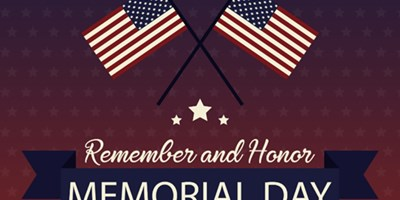 Memorial Day Weekend May 28,29 & 30, 2021