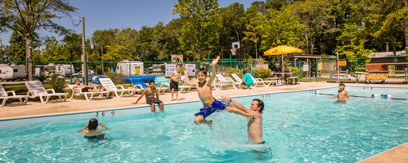 Cool Off in the Pool at the New Bern KOA Campground