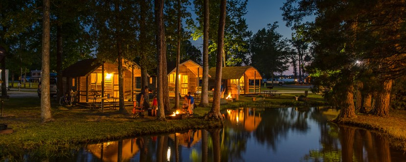 Stunning Cabins in New Bern, North Carolina at the New Bern KOA Campground