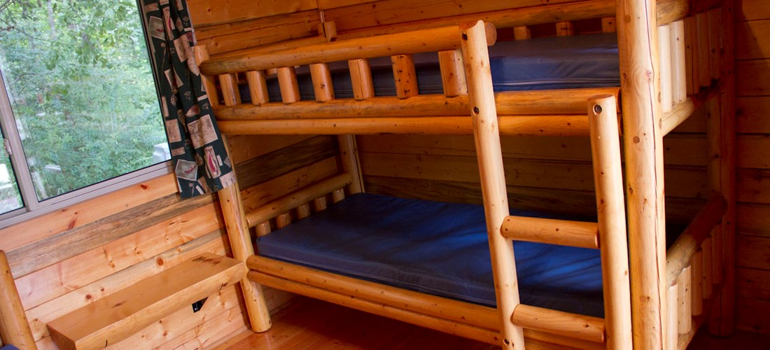 Bunk Bed sets in C2 room Camping Cabins.