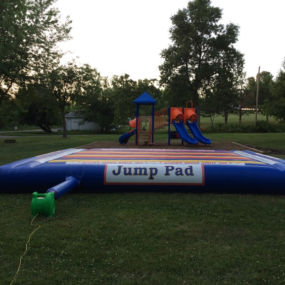 Jumping Pad and Playground!  Hours of fun