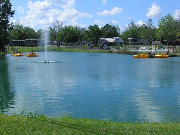 Boat Rentals at the front pond.