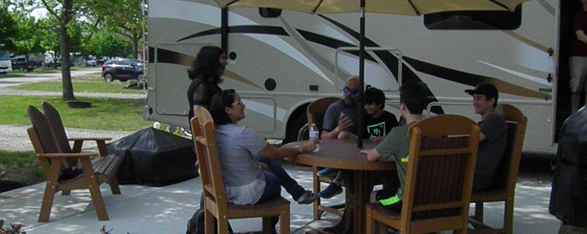 Large RV sites to hang out with friends and family