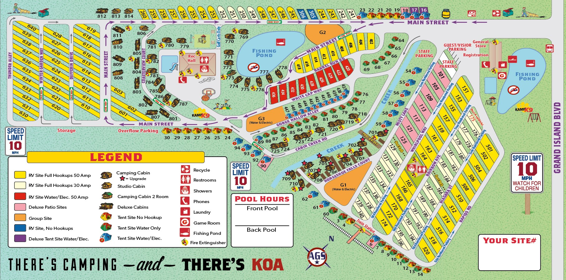 Grand Island New York Campground Niagara Falls Grand Island KOA - Koa us map