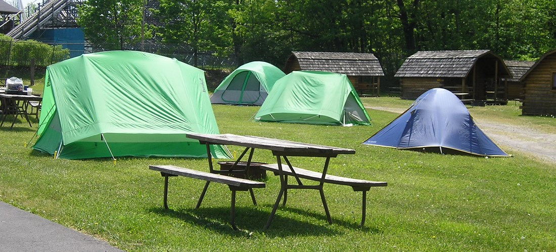 Group tent site.