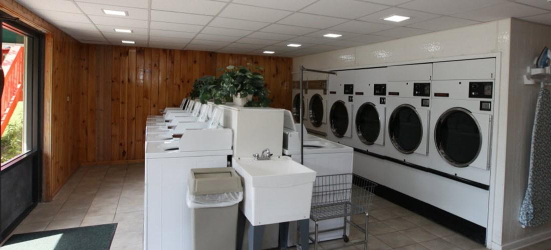 Spacious Laundry Room located in the bottom of the main building.