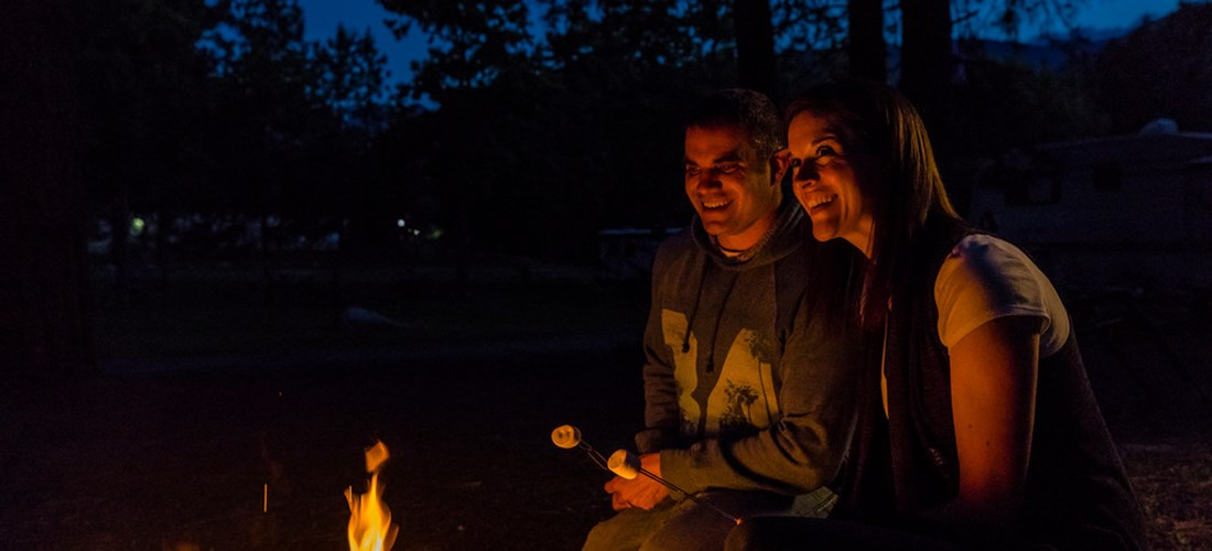 Enjoy an evening campfire right at your site
