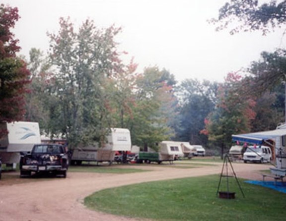 Enjoy our grassy and shaded campsites.
