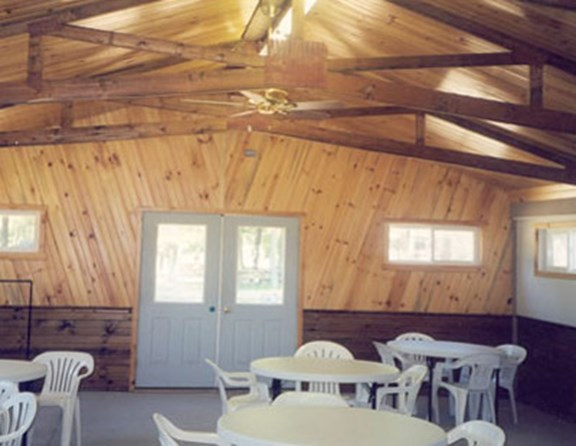 Great place for camping clubs to meet. It is heated and air conditioned. Also great place for birthday parties or family reunions.