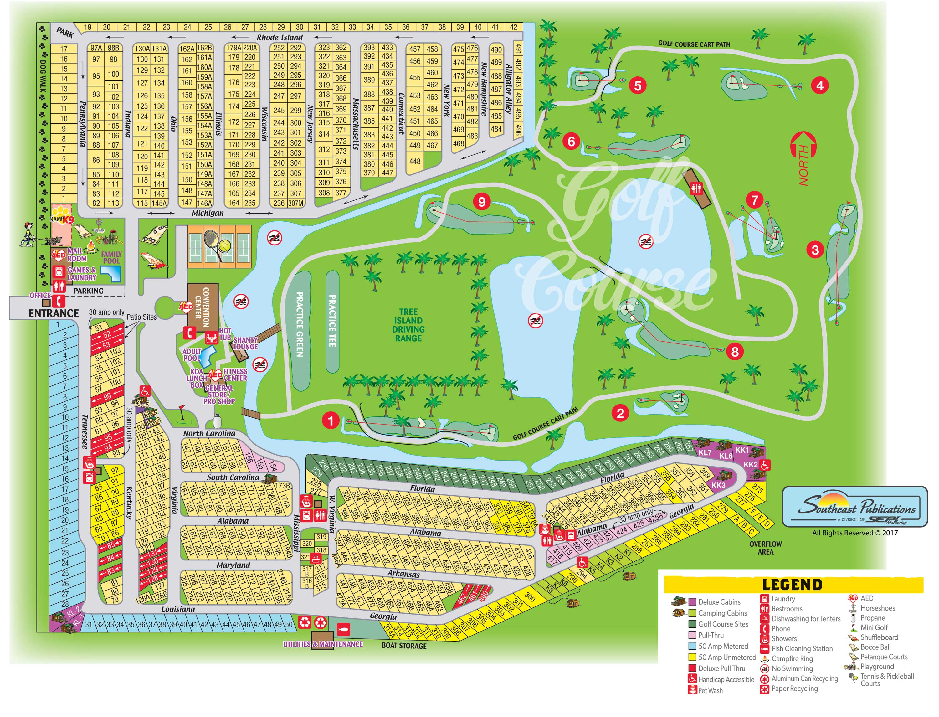 Okeechobee Florida Campground Okeechobee KOA - Koa us map