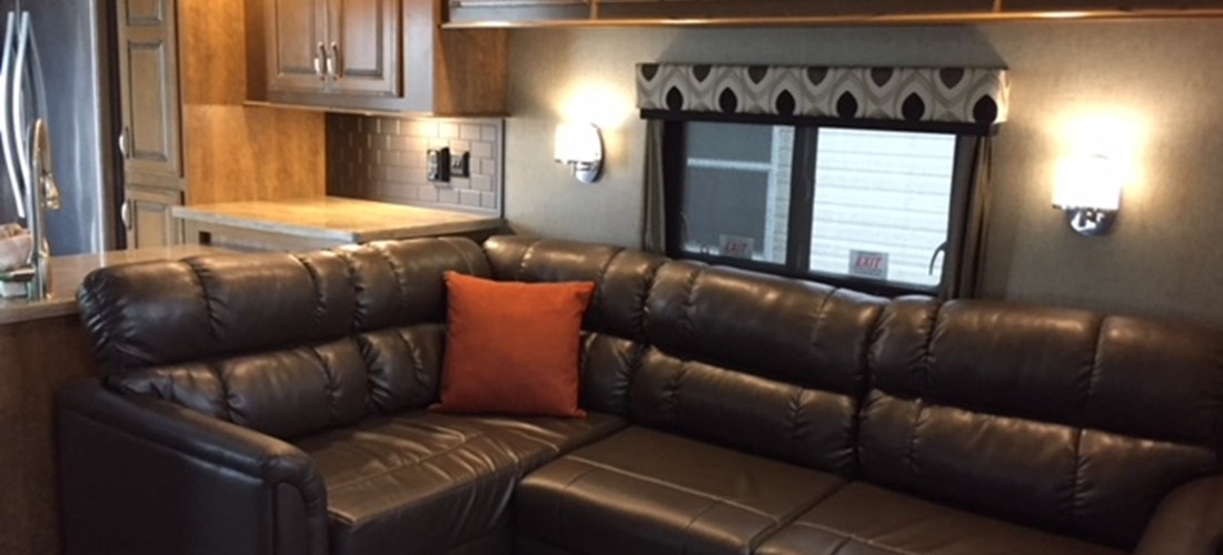 Spacious Living Area in the Park Trailer