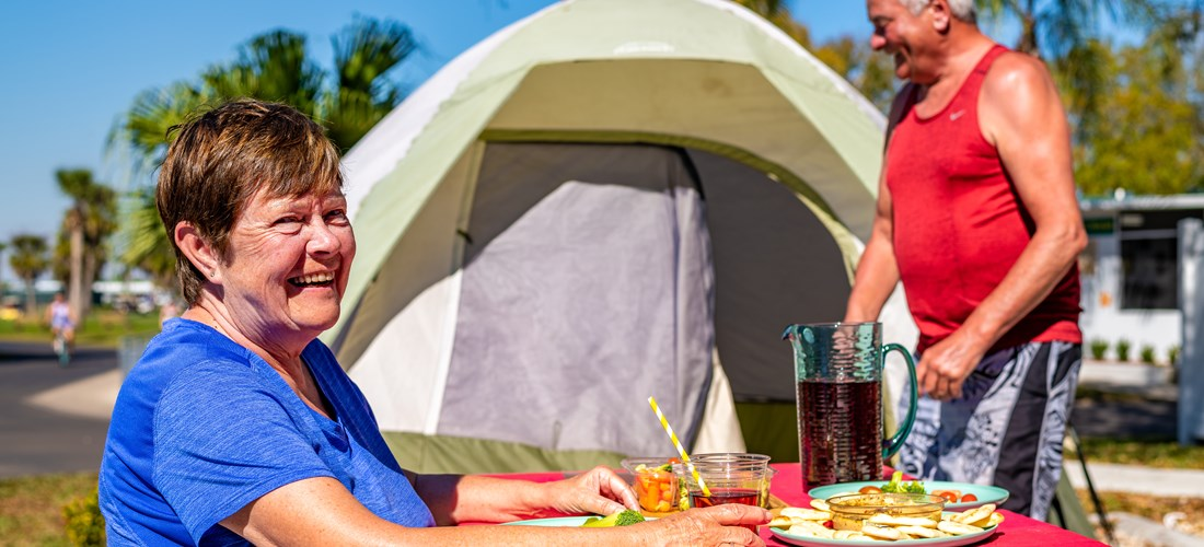 Book a Deluxe Tent Site and enjoy the great outdoors.