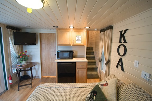 Interior of Deluxe Cabin w/ Loft