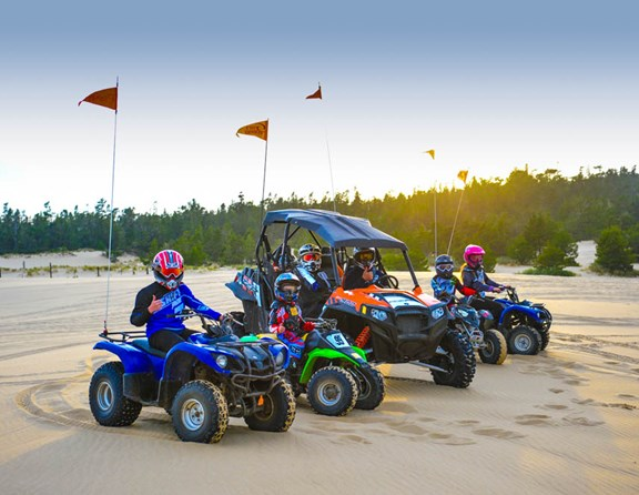 Bring your own machine or rent from nearby rental companies such as Steve's ATV Rentals at our entrance. Beautiful hiking trails and dune tours are 15 minutes away by car