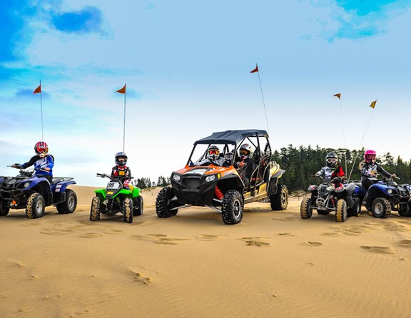 Some of our campers enjoying the Oregon Dunes National Recreation Area
