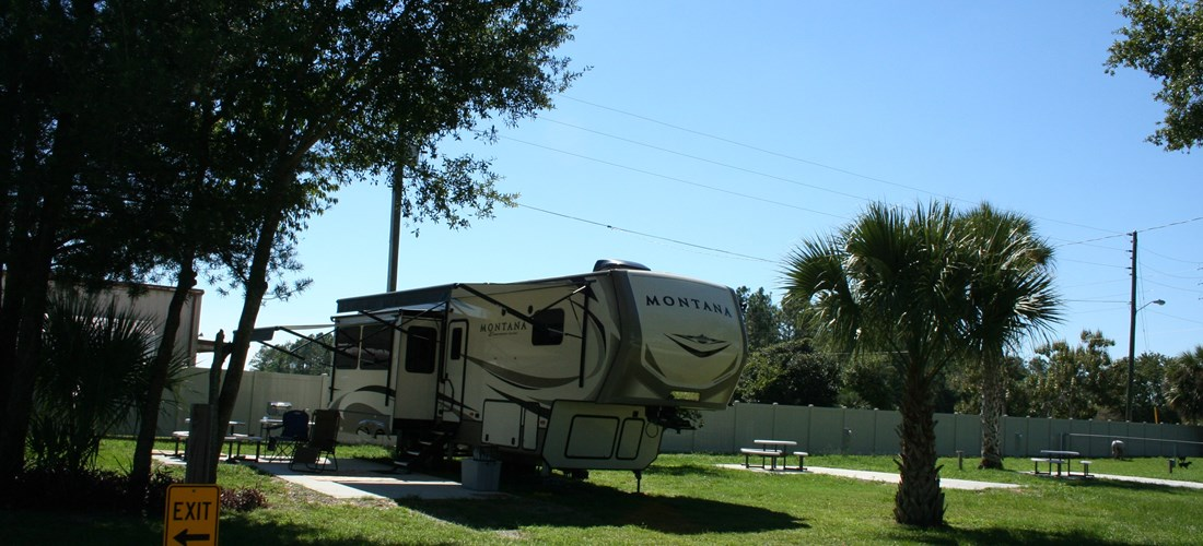 Brand new, spacious, deluxe patio back-in sites.