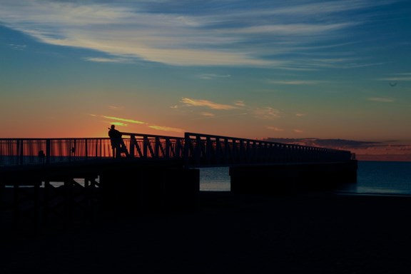 Oscoda Pier ~ Photo By Michael Shaft