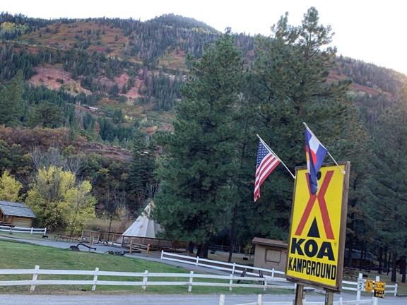 Welcome to Ouray KOA Campground