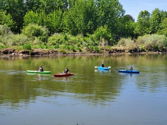 Kayaking and Floating the Yakima River